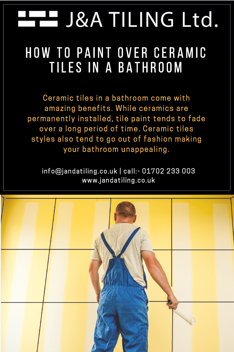 how to paint over ceramic tiles in a bathroom authorstream