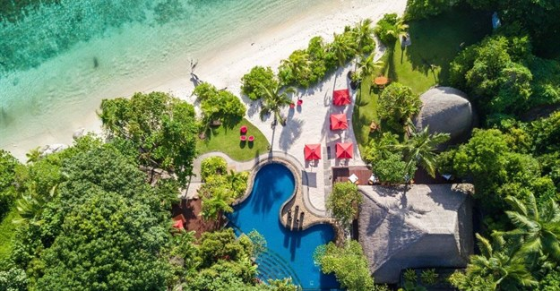 MAIA Luxury Resort & Spa aerial view