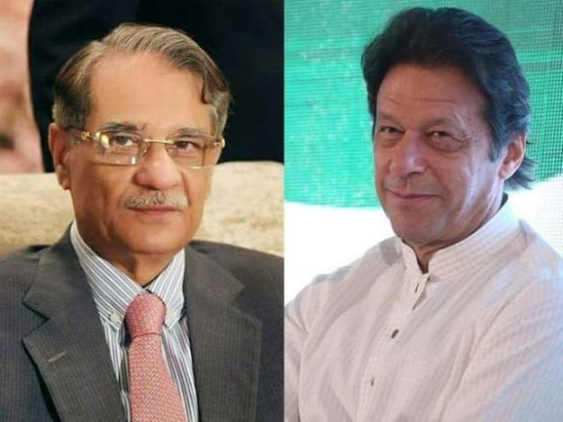 عمران خان کی حکومت بننے والی ہے لہذا بنی گالا تجاوزات معاملے کو اب خود دیکھیں، چیف جسٹس فوٹو:فائل