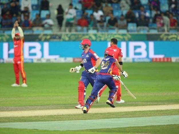 جیتنے والی ٹیم  فائنل میں رسائی کے لیے کل پشاور زلمی کے خلاف  کھیلے گی۔ فوٹو : فائل