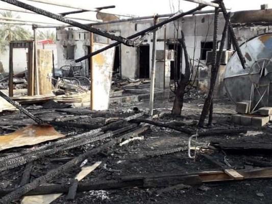 آتشزدگی میں جاں بحق ہونے والوں میں باپ اور دو بیٹے بھی شامل ہیں۔ فوٹو : گلف نیوز
