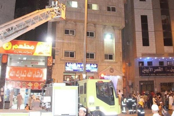 Saudia Fire in hotel 1