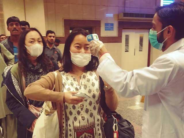 لاہور سمیت تمام ایئرپورٹس پر پراسرار 'کرونا وائرس' سے بچاو کے حوالے سے اقدامات
