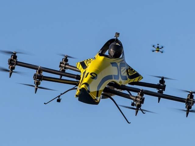کرتب دکھانے والا دنیا کا پہلا انسان بردار ڈرون
