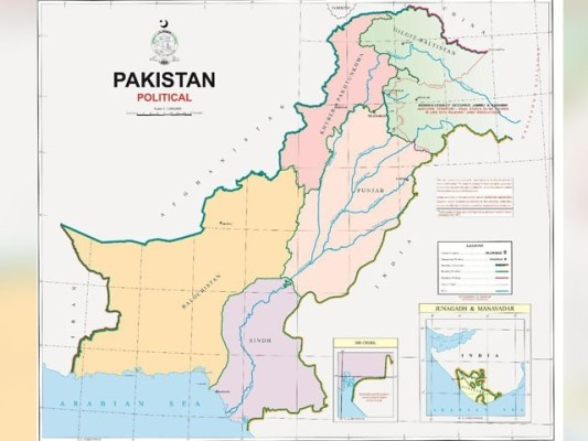 پاکستان کا سرکاری نقشہ جاری کردہ نوٹیفیکیشن کے ساتھ منسلک کردیا گیا ہے، پیرا۔(فوٹو، حکومت پاکستان)