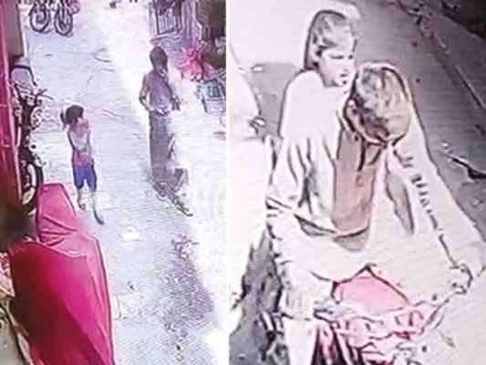 ملزم کی گرفتاری فوٹیج کی مدد سے عمل میں آئی، پولیس نے متاثرہ بچی کا وڈیو بیان حاصل کرلیا ، ایس ایچ او سولجر بازار۔ فوٹو: اسکرین گریب