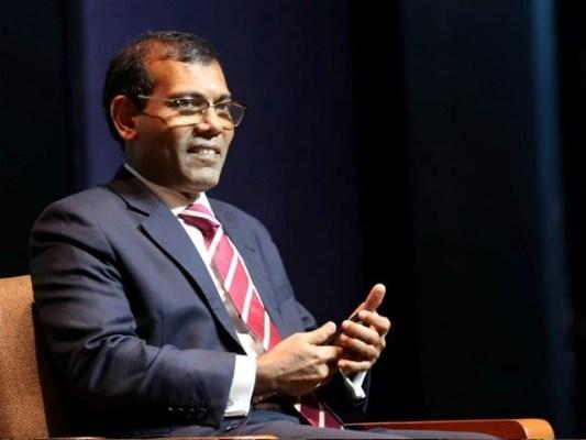 نشید جمہوری عمل کے نتیجے میں منتخب ہونے والے مالدیپ کے پہلے صدر رہے ہیں۔(فوٹو:اے ایف پی)