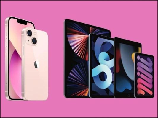 نئے آئی فون 13 اور آئی ٹیب منی کی قیمت لگ بھگ پچھلے سال جیسی ہی ہے۔ (فوٹو: ایپل کارپوریشن)