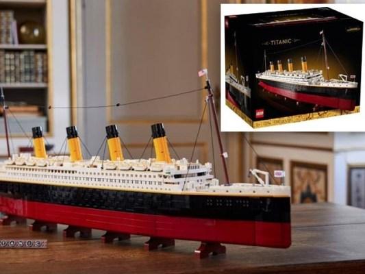 لیگو کمپنی نے مشہور بحری جہاز ٹائٹینک کا انتہائی تفصیلی ماڈل بنایا ہے جو نو ہزار ٹکڑوں اور حصہ پر مشتمل ہے۔ فوٹو: لیگو کمپنی