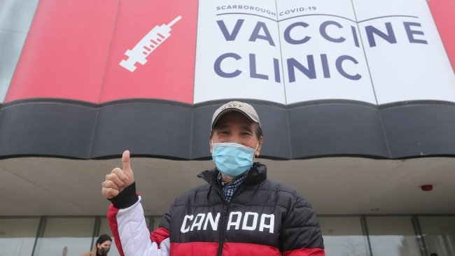 Canada has ordered five times as many vaccines as its population.