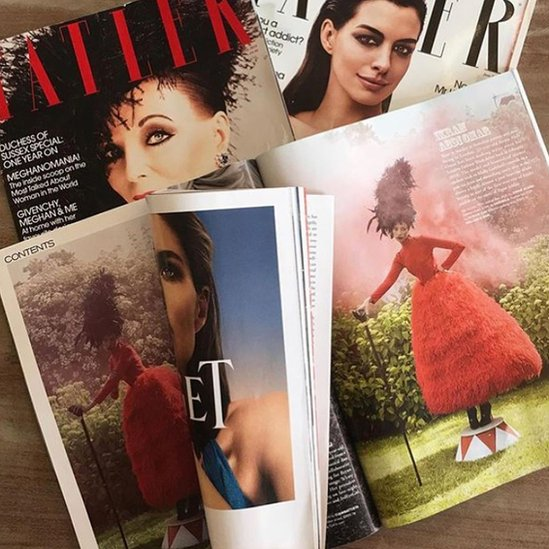 Ikram on the cover of Vogue Arabia