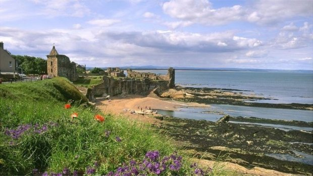 Beach at St Andrews Castle
