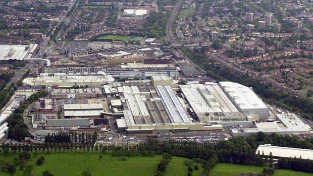 The giant Longbridge car plant in Birmingham