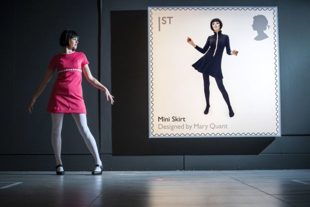Chloe Kennedy receives a Mary Quant makeover during a visit to the Mid-Century Modern exhibition at the Dovecot Studio in Edinburgh.