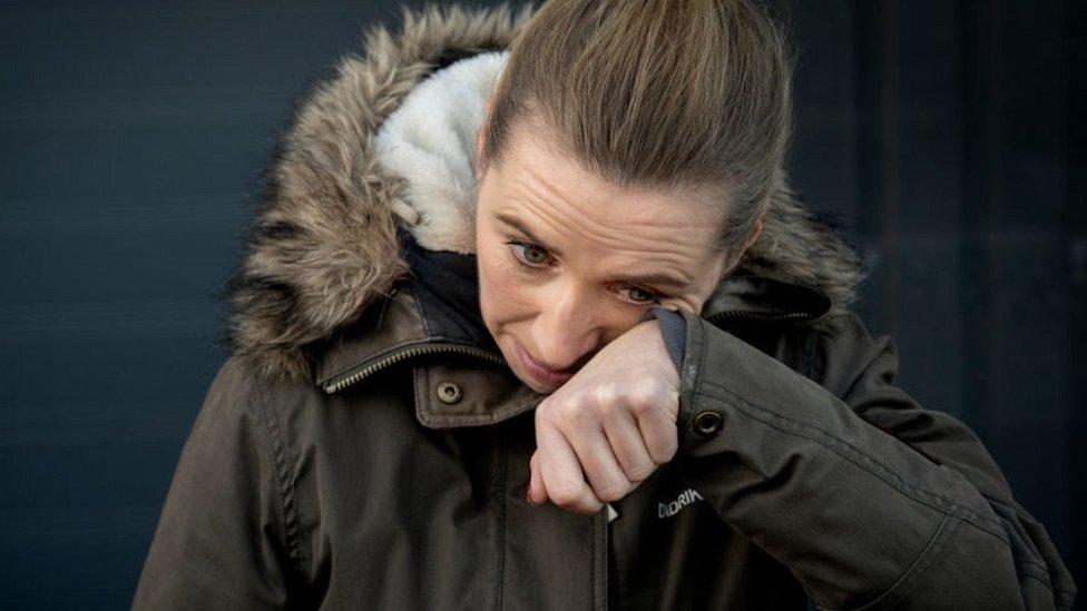 La députée danoise Mette Frederiksen pleure, 26 novembre 20