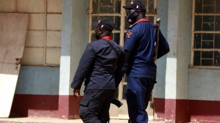 Police members are deployed after gunmen abducted students from the all-boys Government Science school in Kankara, in northwestern Katsina state, Nigeria December 13, 2020