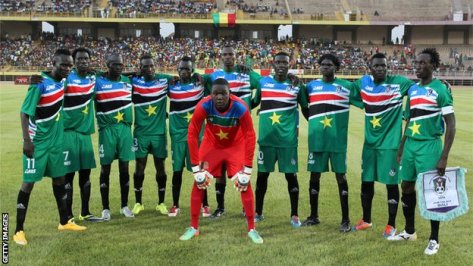 The men's football team of South Sudan