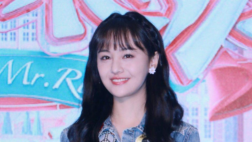 La actriz Zheng Shuang
