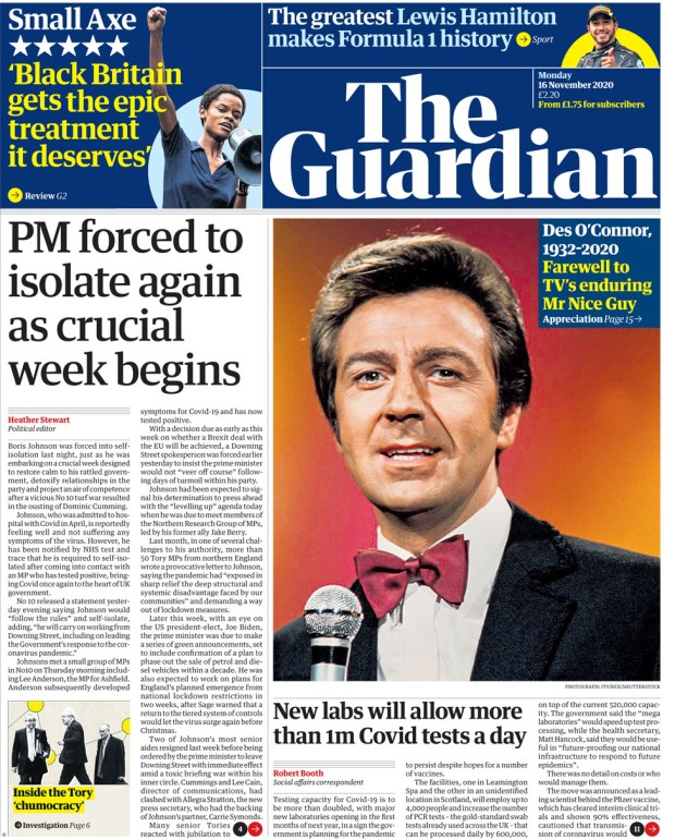 The Guardian Monday 16 Nov