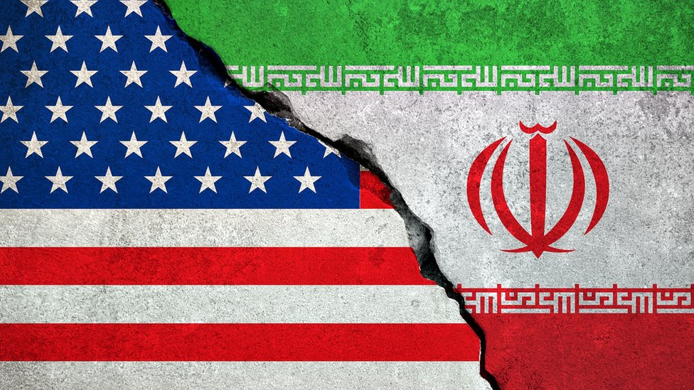 Image result for US Iran flags