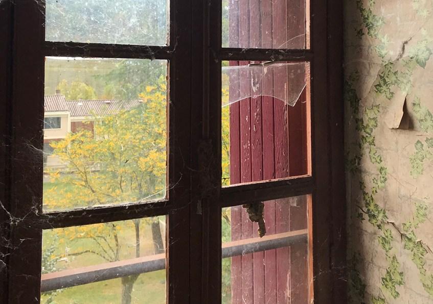 A window in the children's dormitory