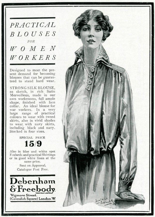 A newspaper advert for blouses