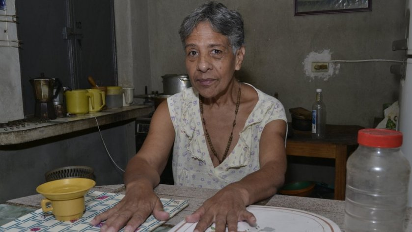 Norma Mújica at home