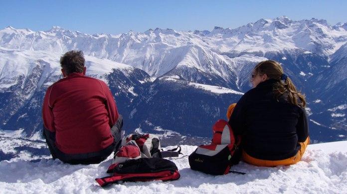 Eddy y Renske Hekman en la nieve.