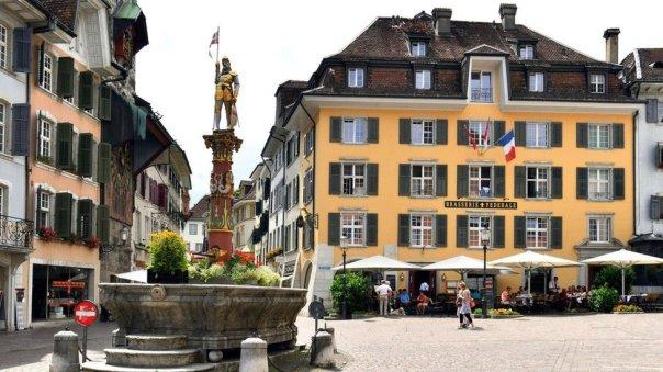 Una plaza de Solothurn