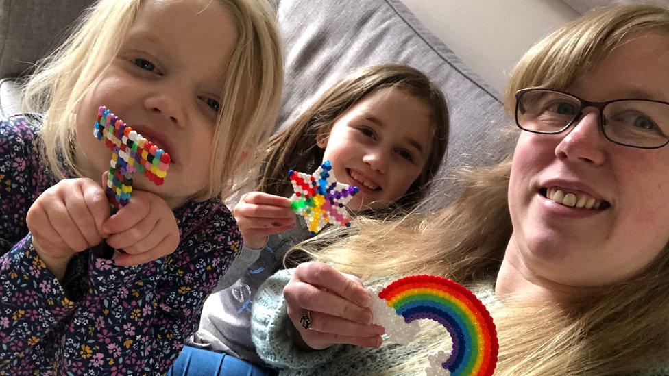 Claire Yaxley and daughters Pearl, eight, and four-year-old Tallulah