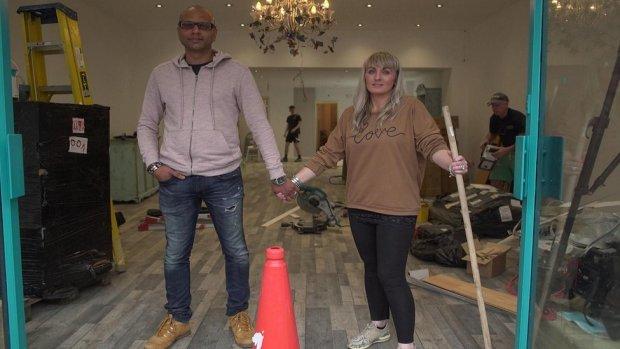 Emma and Rez Jamal at Kookoo Madame in Pontypridd