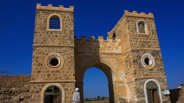 The town gate at the Red Sea port of Suakin in Sudan