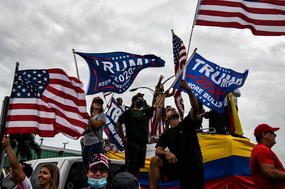 Trump supporters in Miami