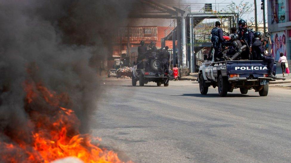 Clashes in Luanda on 11/11/20