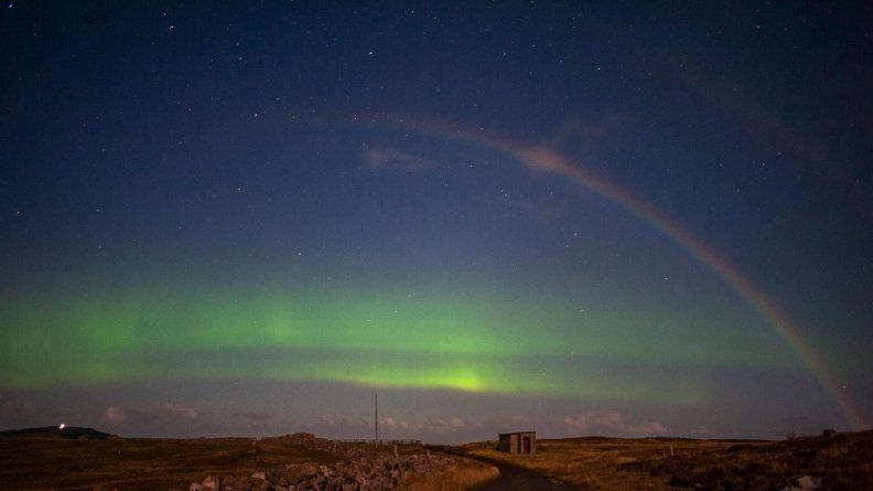 Moonbow at Durness