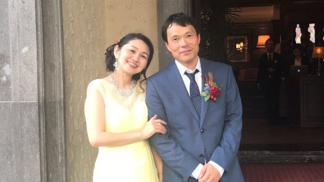 Cheiko Mitsui and her husband