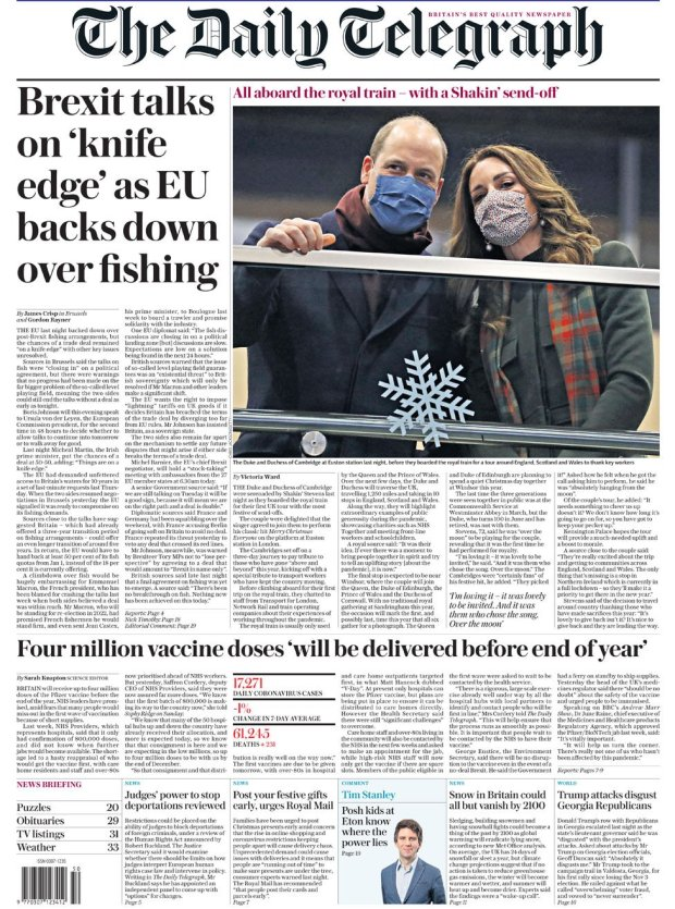 The Daily Telegraph 7 December