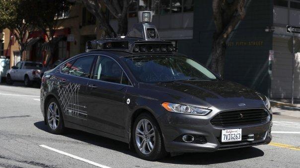Vehículo autónomo de Uber.