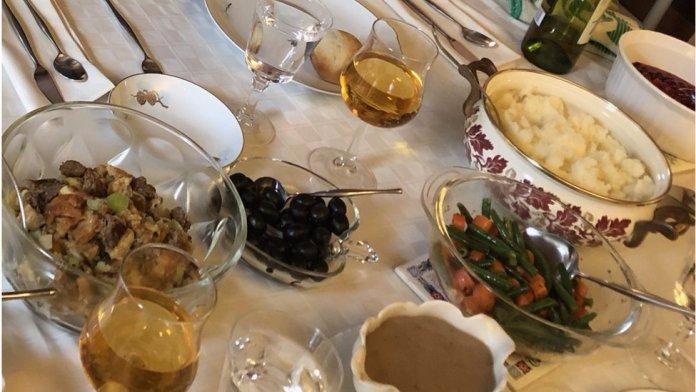 Ryan's Thanksgiving table last time around