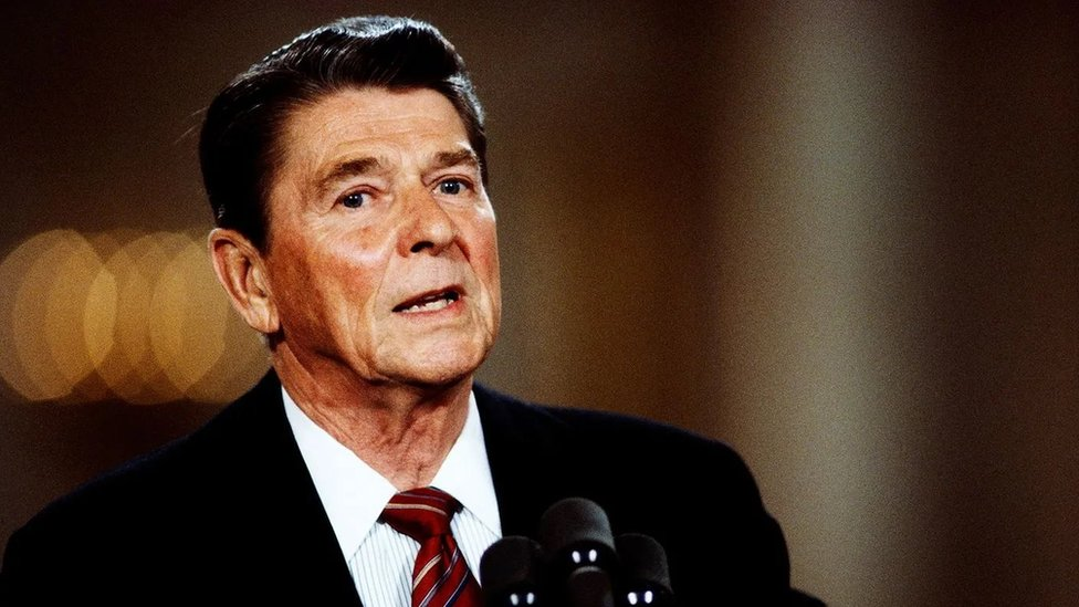 Former US President Ronald Reagan in 1984