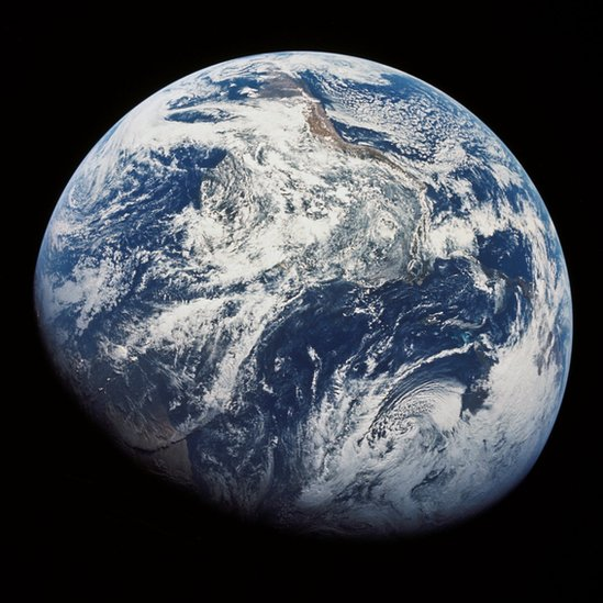 Photo of the Earth captured by Apollo 8