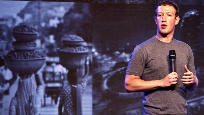 Co-founder and chief executive of Facebook Mark Zuckerberg in India on October 9, 2014.