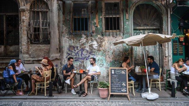 A café in Instanbul