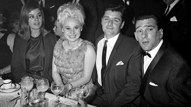 Frances Shea (left) and her husband Reggie Kray with Windsor and her husband Ronnie Knight in 1965