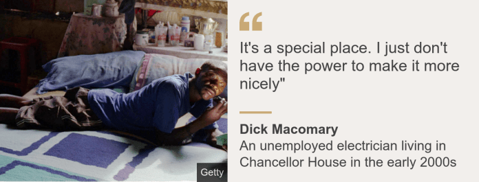 Quote card. Dick Macomary: