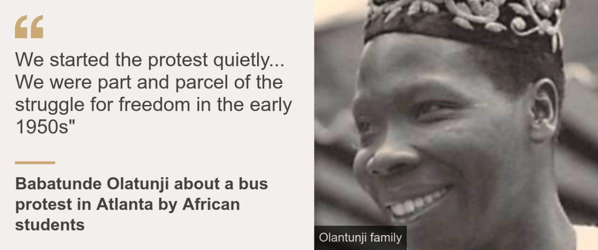 Quote box. Babatunde Olatunji: