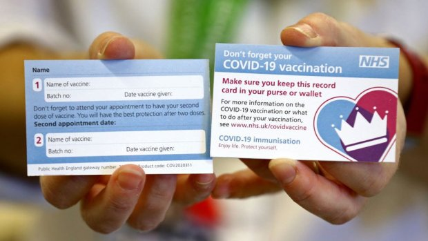 Vaccine reminder card