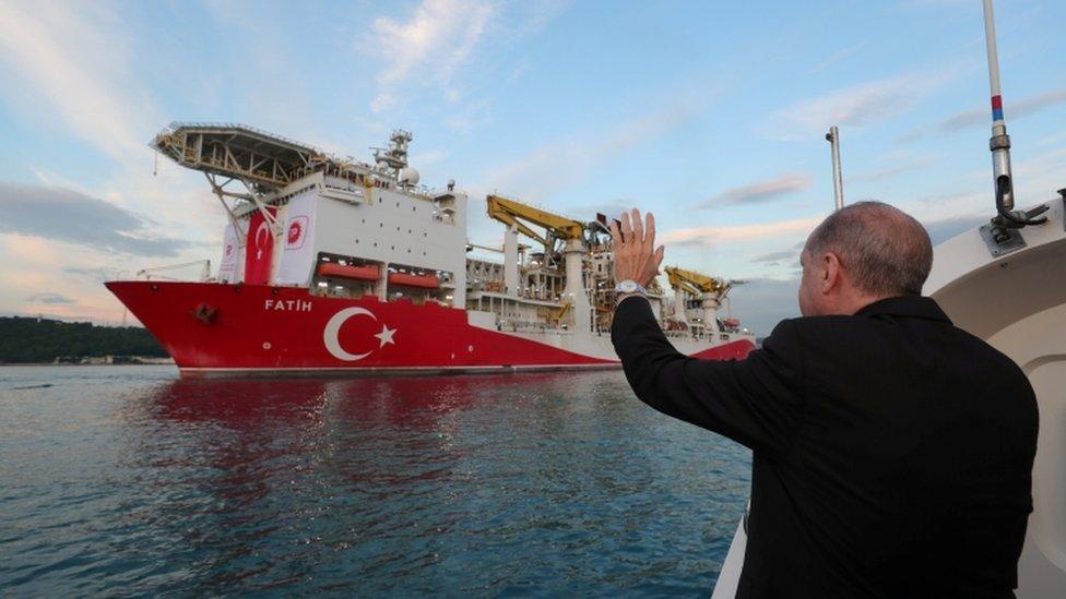 President Erdogan has been outspoken on Turkish drilling rights in the Eastern Mediterranean