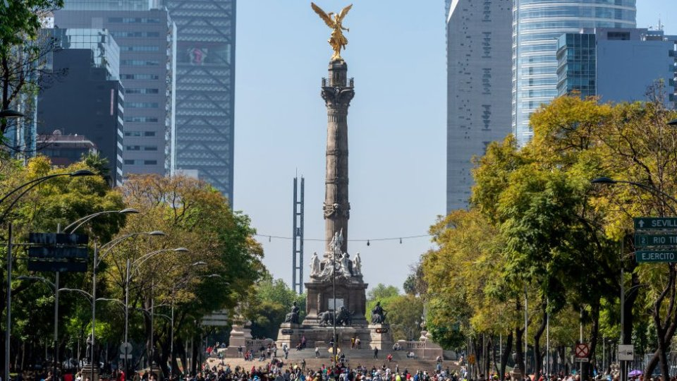 Paseo Reforma y Ángel de la Independencia.