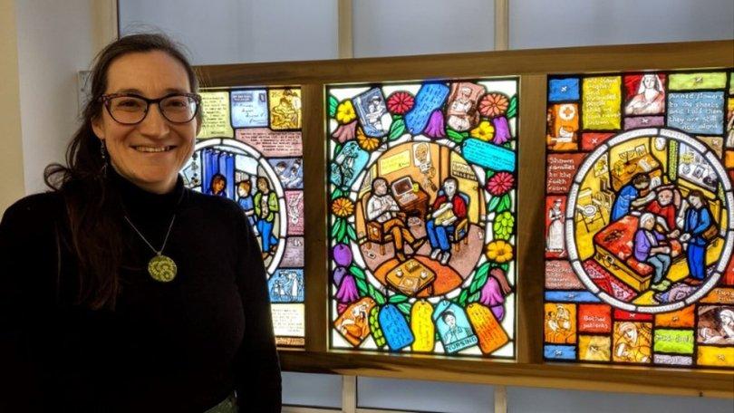 Hannah at the Royal College of Nursing